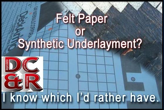 Felt vs synthetic underlayment