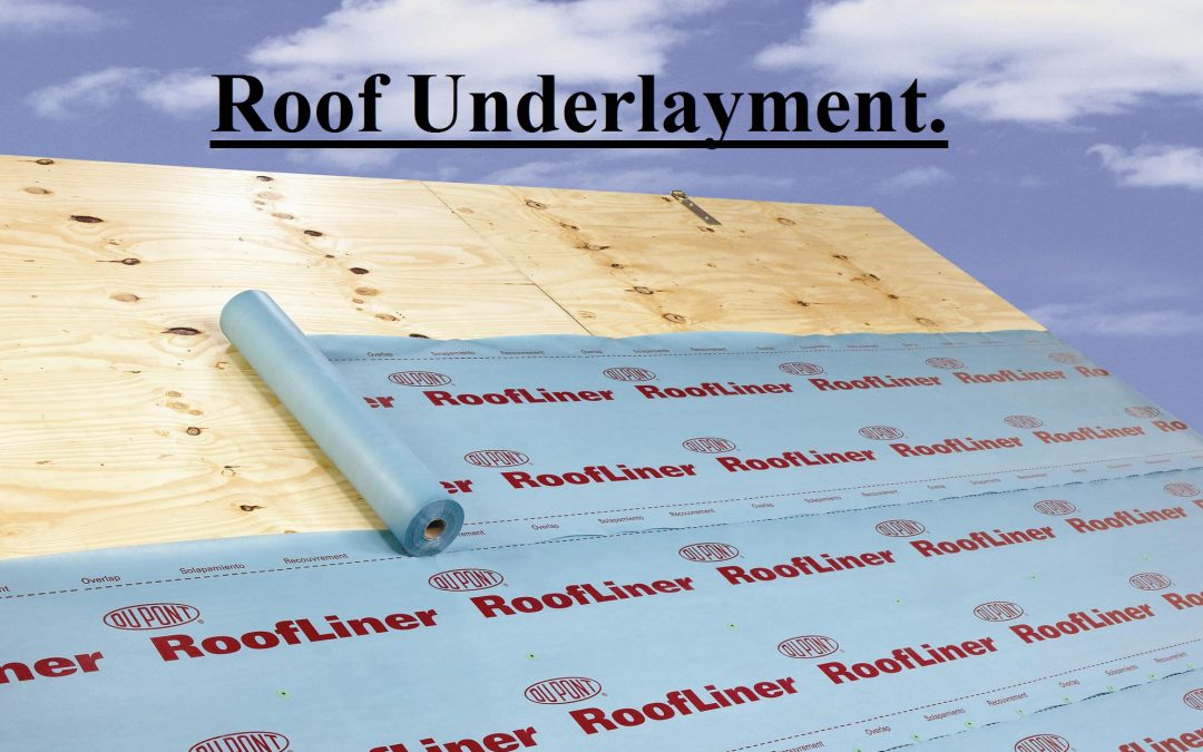 How to install Underlayment.