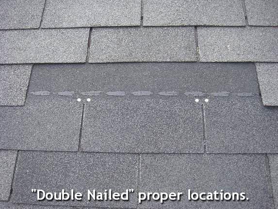 Nailing Roof Shingles Correctly.