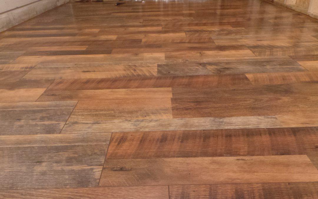 Old floor look